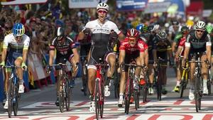 Danny van Poppel celebrates stage victory