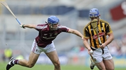 Kilkenny's Ger Aylward with Johnny Coen of Galway