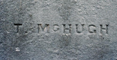 Tom McHugh signature (photo by Ruth McHugh)