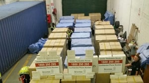 The seizure took place yesterday when the 'Eton' brand cigarettes were uncovered in a container that arrived from Malaysia