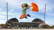 Ireland fans were jumping for joy outside the stadium...