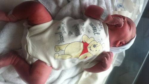 New arrival baby Annalise weighed in at 8lbs 10oz