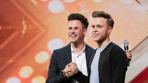 Olly Murs with his doppelgänger, Jamie Benkert