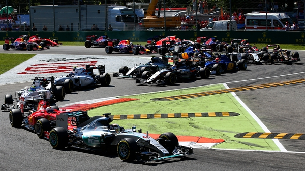 Lewis Hamilton led from the start at Monza