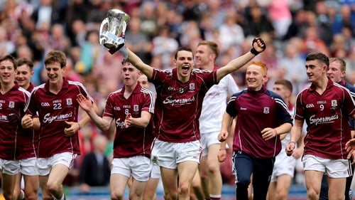 Galway captain Ryan Forde and his team-mates celebrate victory