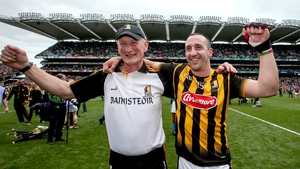 Brian Cody and Eoin Larkin celebrate a 36th title on the Croke Park turf