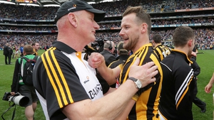 Jackie Tyrrell and Brian Cody in the aftermath of yesterday's final
