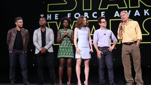 Some of the cast of Star Wars 'The Force Awakens' at Disney's D23 EXPO 2015 last month
