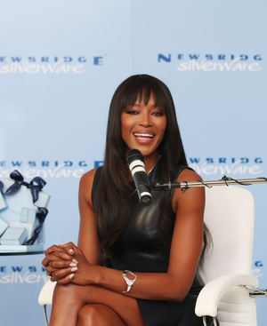 Naomi Campbell is the new face of Newbridge Silverware