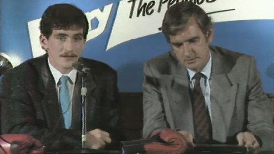 Barry McGuigan and Barney Eastwood