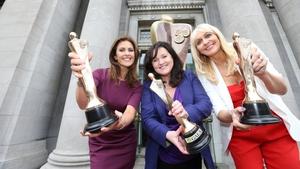 Alison Comyn of UTV Ireland; Aine Moriarty, IFTA CEO; Miriam O'Callaghan of RTÉ