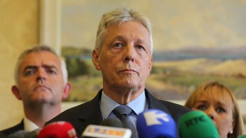 Peter Robinson stood aside as first minister last week