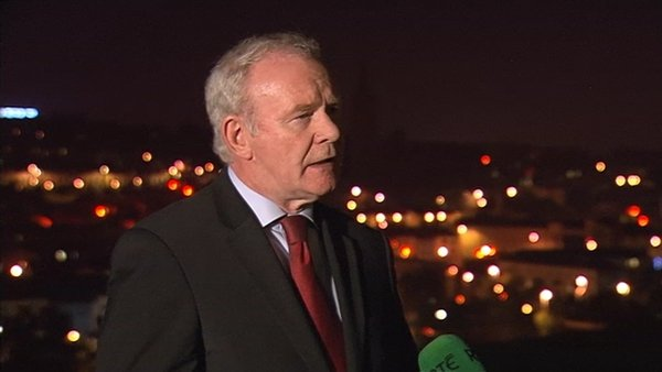 Mr McGuinness said 'if there's a will to resolve these difficult issues, it certainly can be done'