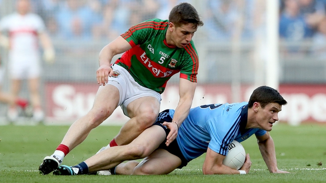 Mayo's Lee Keegan and Dublin's Diarmuid Connolly were involved a flashpoint in the drawn All-Ireland semi-final last summer