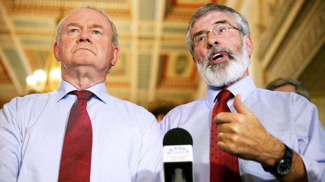 Martin McGuinness (left) says he does not think the DUP wants a fresh election