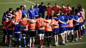 Philippe Saint-Andre addresses his squad