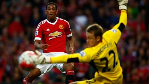 Anthony Martial is the only striker in the Manchester United squad in Germany