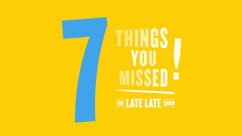 The Late Late Show Extras: 7 Things You Missed