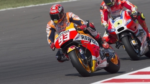 Marc Marquez was victorious in San Marino