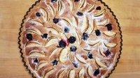 Autumn apple and blackberry frangipane tart - Experience the taste of autumn with this delicious apple and blackberry tart. This is a wonderfully versatile dessert, suitable for most seasonal fruits including apricots, plums, peach and raspberry, pear and crystallized ginger.