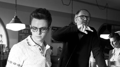 Anton Corbijn (right) and star Dane DeHaan on the Life set