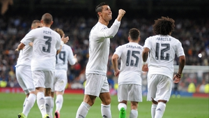 Ronaldo celebrates yet another goal for Real Madrid