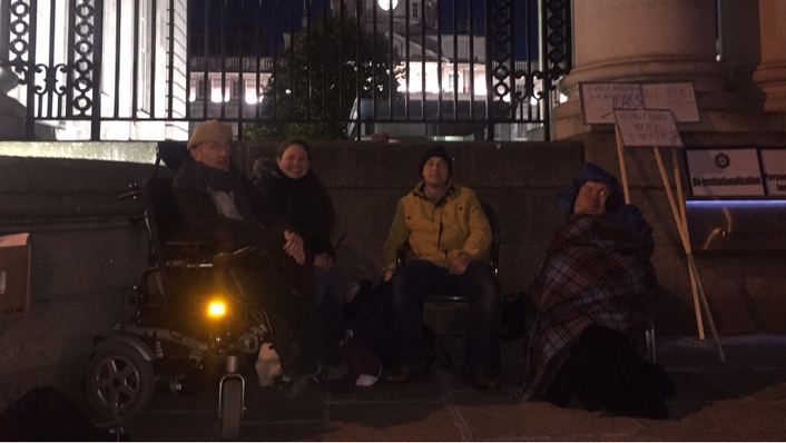 72-hour disability protest outside Govt buildings