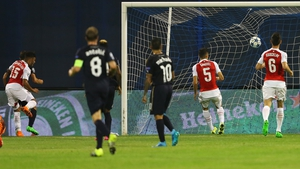 Dinamo Zagreb got on the score sheet through an own goal from Alex Oxlade-Chamberlain