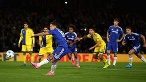 Eden Hazard missed a penalty in Chelsea's 4-0 victory over Maccabi Tel Aviv on Wednesday night