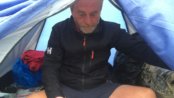 Craig set up camp on a beach in Killiney six weeks ago after making his way from Cork
