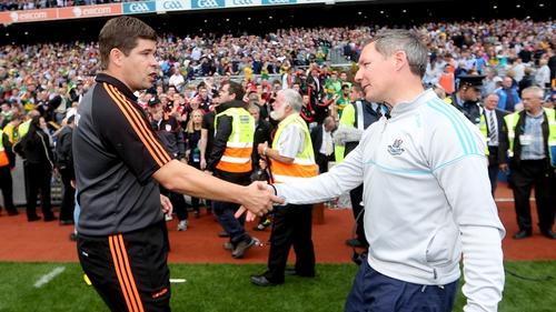 Kerry boss Éamonn Fitzmaurice and Dublin manager Jim Gavin