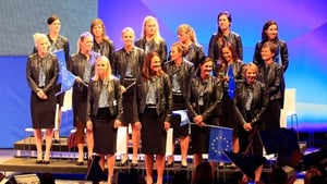 The European Solheim Cup team face off against USA