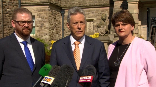 Peter Robinson said that parliamentary activity would have to be dealt with during the talks process