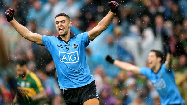 Dublin's James McCarthy celebrates at the final whistle