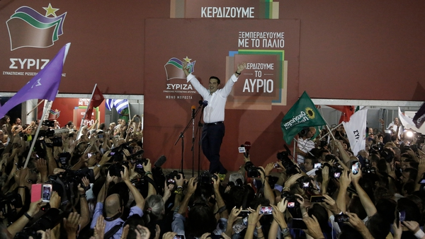 Mr Tsipras tempered his victory speech with a reminder that there are tough times ahead