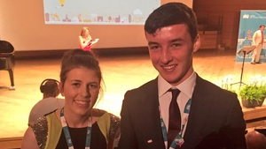 Eimear Murphy and Ian O'Sullivan are all smiles after winning the Intel ISEF prize in Milan