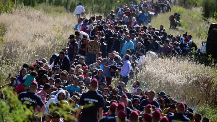 Refugees flee 'inhuman' conditions in camps