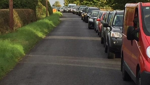 Traffic came to a standstill this morning as people tried to make their way to the entrance in Co Laois