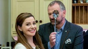 Catherine Fulvio with Taste of Success host Daithí Ó Sé