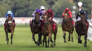 Bondi Beach and Simple Verse have a coming together of sorts during the Doncaster Leger