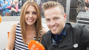 2fm's Jenny Greene and Nicky Byrne at the Ploughing