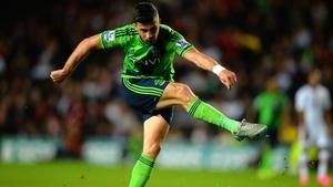 Irish striker Shane Long scored twice for Southampton