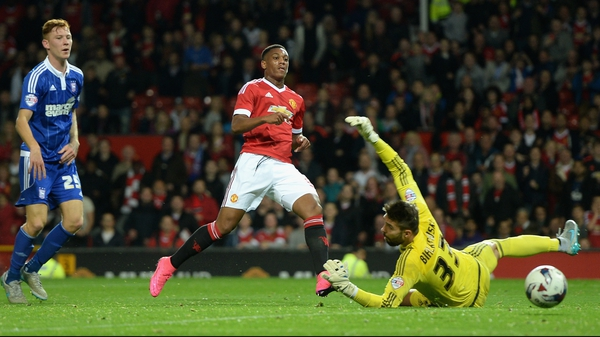 Martial has now scored four goals in just 225 minutes for United