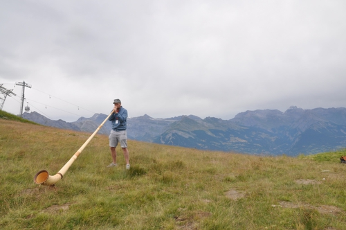 Tadhg Peavoy gets to grips with the alphorn