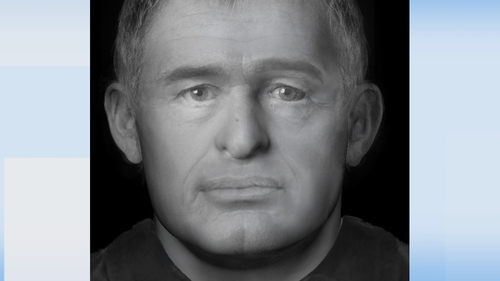 A facial reconstruction of the man that was circulated by gardaí