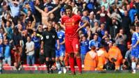 Gerrard back at Liverpool's training base