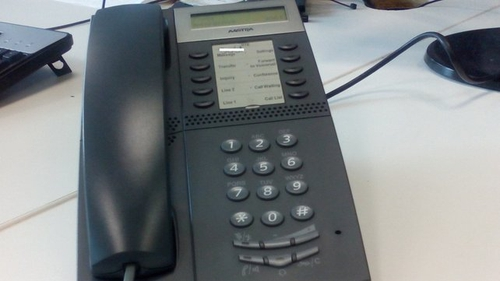 People receive a telephone call to their landline from an individual claiming to be a 'security manager'