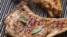 Pork Chops with Cider -  Juicy pork chops with cider sauce and potatoes.