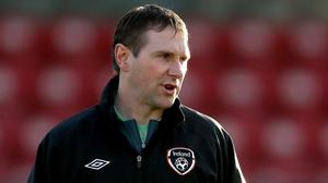 Republic of Ireland U19 manager Tom Mohan.