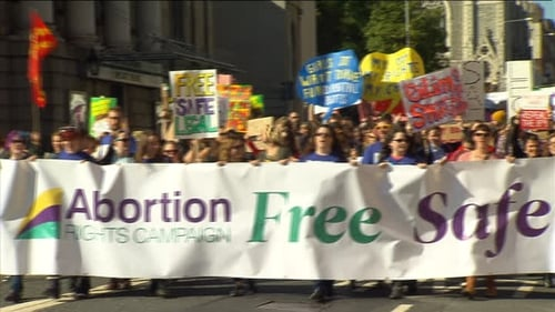 The fourth annual march organised by the Abortion Rights Campaigncalledfor free, safe and legal abortion